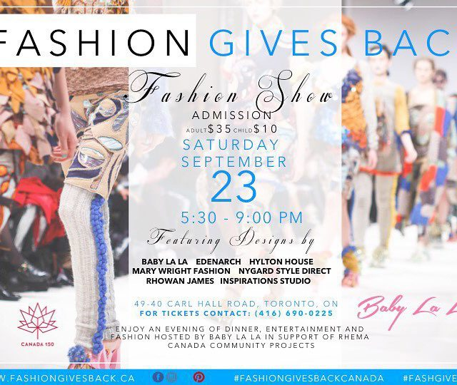 Fashion gives back! Featuring Lady Sharon hyltonhouse designs and more!hellip